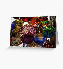 Glowing Witch Balls Greeting Card