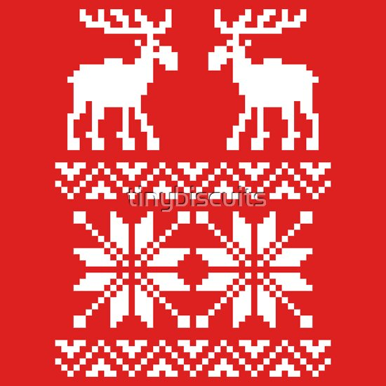 TShirtGifter presents: Moose Pattern Christmas Sweater | Unisex T-Shirt