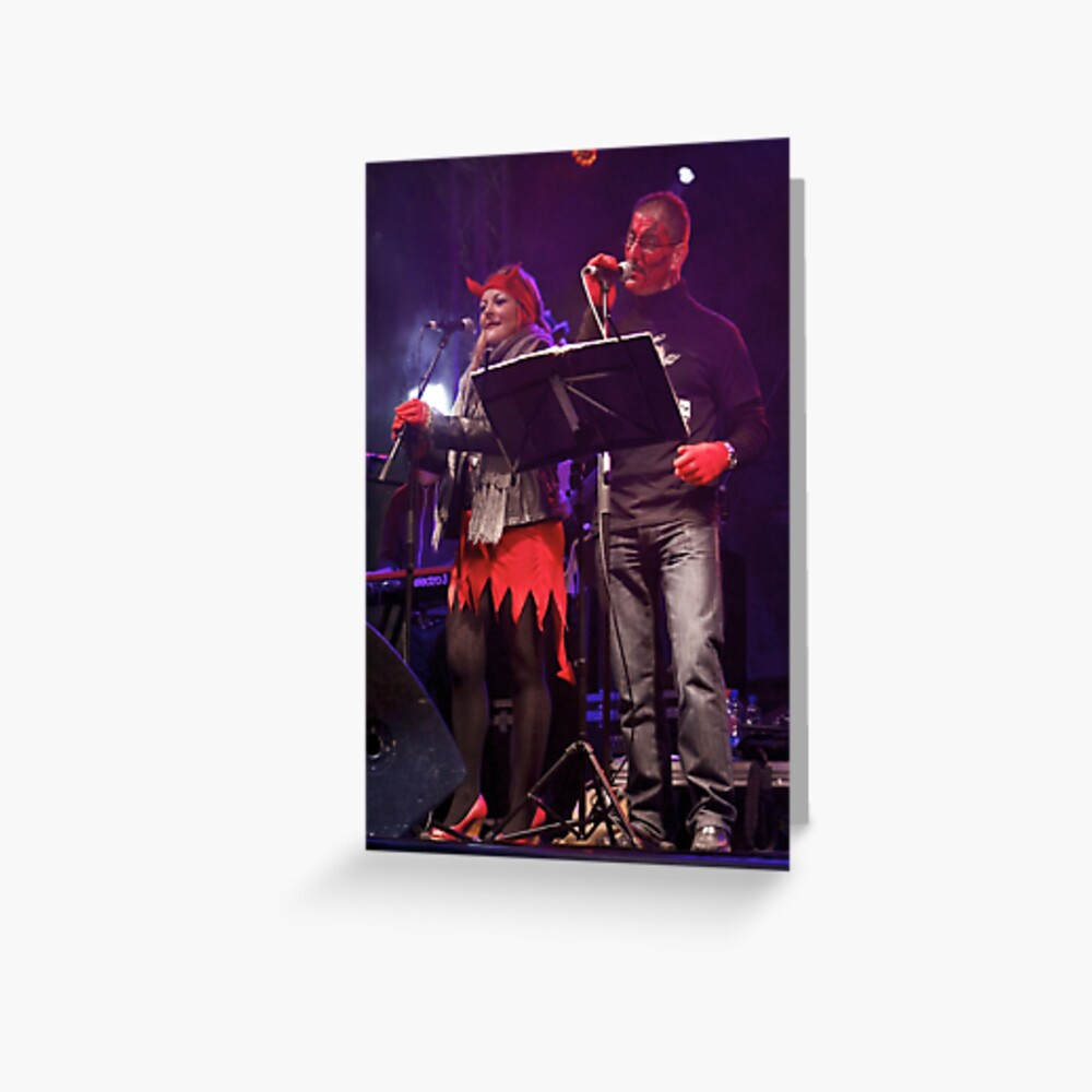 Live Music  - Haloween 2012, Derry  Greeting Card