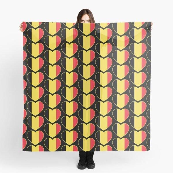 I LOVE Belgium Belgian flag, heart shape Scarf