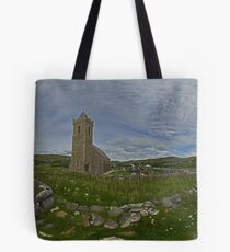 Glencolmcille Panorama with Church Tote Bag