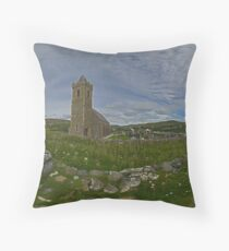 Glencolmcille Panorama with Church Throw Pillow