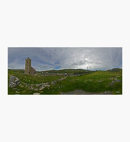 Glencolmcille Panorama with Church Photographic Print