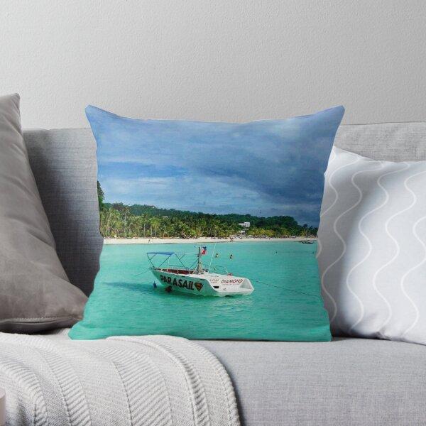Calm Torquoise Ocean Throw Pillow