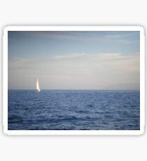 White Sails on the Horizon Sticker