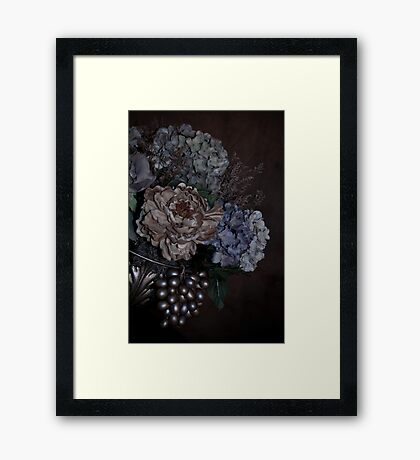 A Bouquet of Flowers On an Angle Framed Print