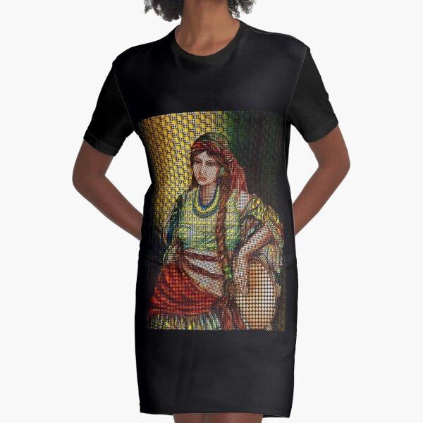 Arab Bedouin Woman Graphic T-Shirt Dress