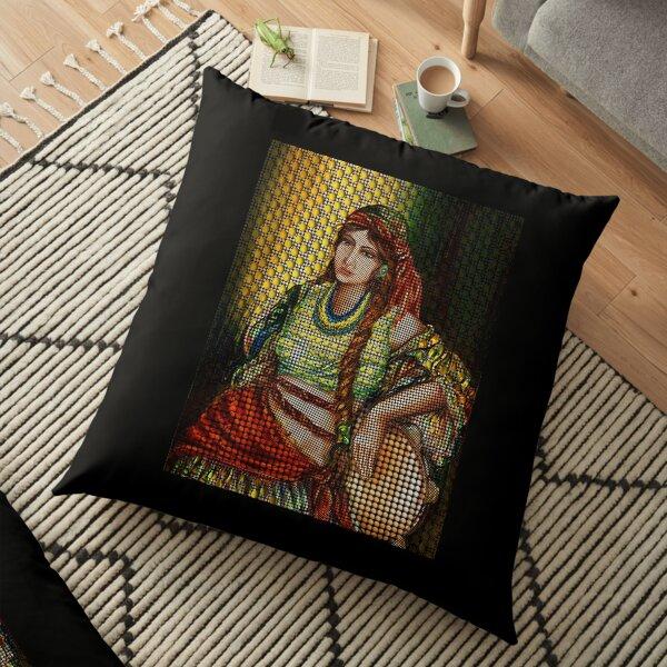 Arab Bedouin Woman Floor Pillow