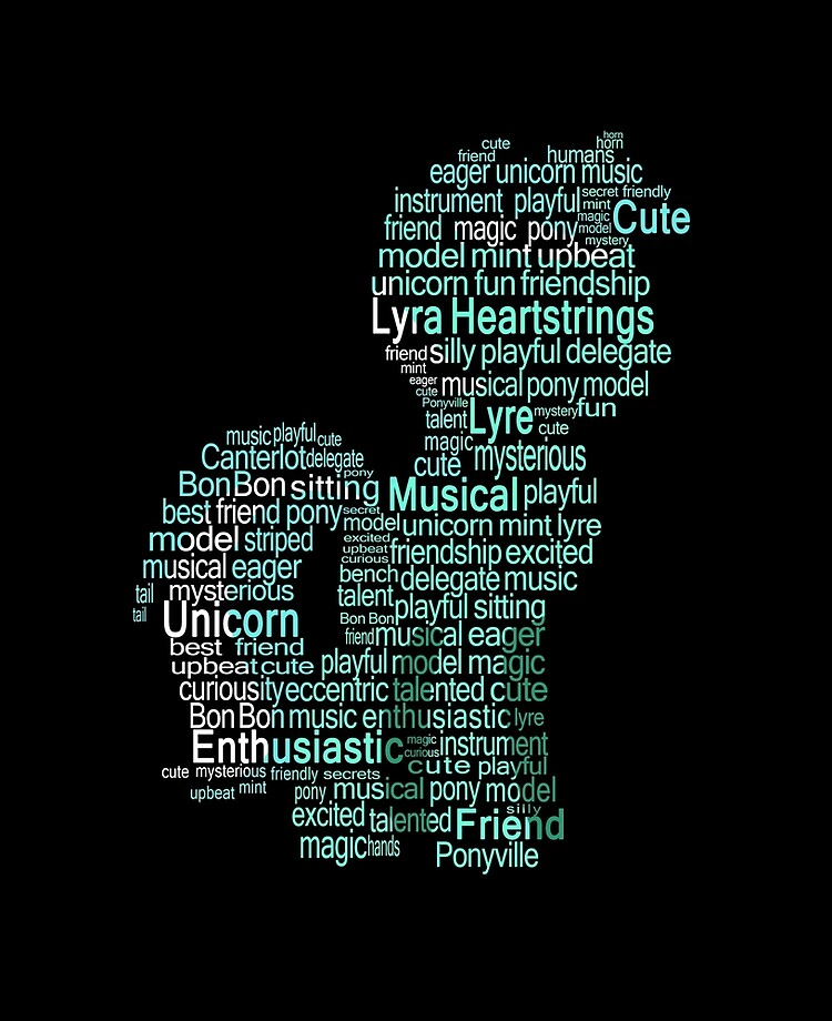 My Little Pony - Lyra Heartstrings Typography | iPad Case & Skin