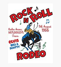 Rock n Roll Rodeo Photographic Print