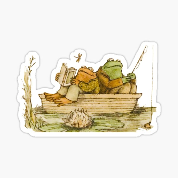 Frog and Toad Fishing Sticker