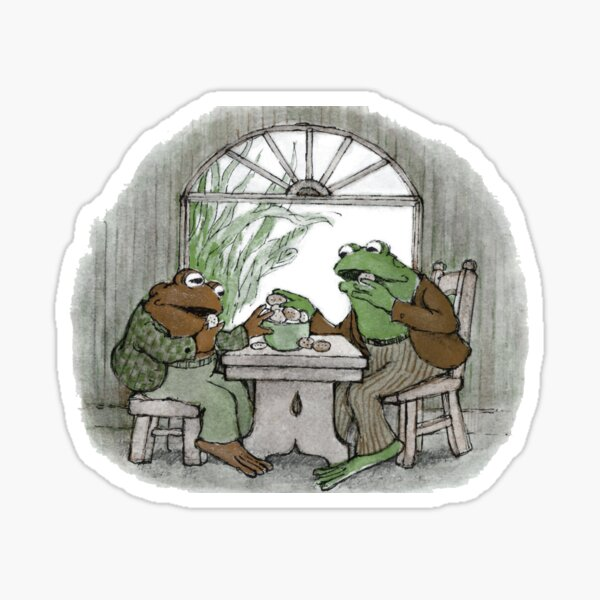 Frog and Toad Eating Sticker