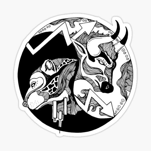 Bull and Bear Sticker