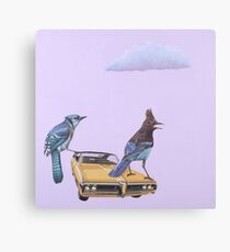 Two Jays and a Bonneville Canvas Print