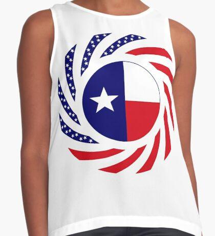 Texan Murican Patriot Flag Series Sleeveless Top