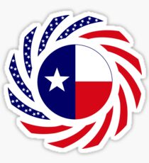 Texan Murican Patriot Flag Series Sticker
