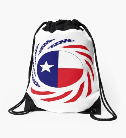 Texan Murican Patriot Flag Series Drawstring Bag