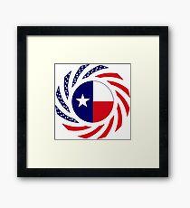 Texan Murican Patriot Flag Series Framed Print