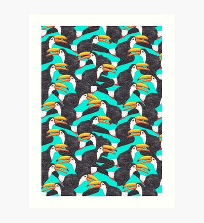 Toucan [green] Art Print