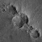 Mars Crater Chain by flashman
