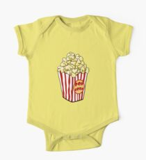 Cartoon Popcorn Bag Kurzärmeliger Einteiler