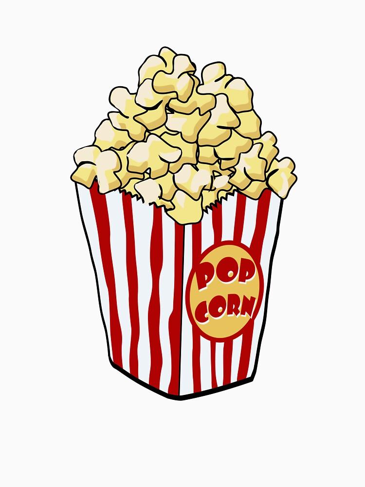 """Cartoon Popcorn Bag"" Classic T-Shirt by mdkgraphics ..."