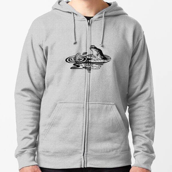 Frosch und Fisch Kapuzenjacke