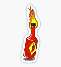 Cartoon Hot Sauce Sticker