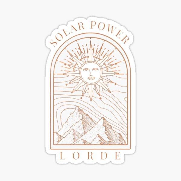 Solar Power by Lorde Sticker