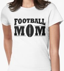Football mom Women's Fitted T-Shirt