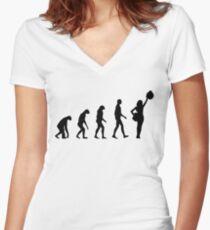 Evolution cheerleading Women's Fitted V-Neck T-Shirt