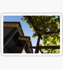 Summer Courtyard - Decorated Eaves and Grape Arbors in the Sunshine Sticker