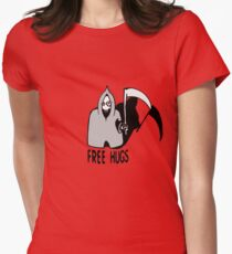 Free Hugs by The Death  (sad halloween version) Women's Fitted T-Shirt