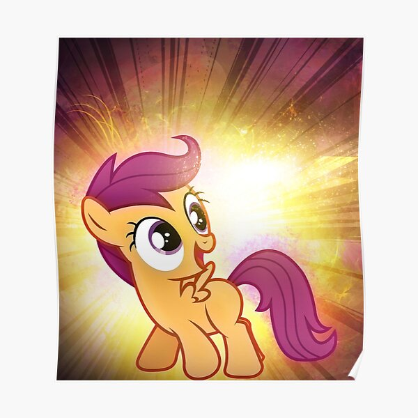 Scootaloo Posters Redbubble Scootaloo happy rear vector by starshinecelestalis on. redbubble
