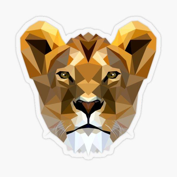 Lioness Transparent Sticker