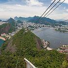 Panorama of Rio de Janeiro from atop Sugarloaf Mountain by Ben Ryan