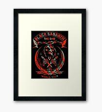 THE END WORLD ROCK BAND TOUR 2016 Framed Print