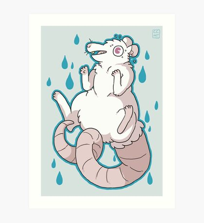 Nervous Rat Art Print