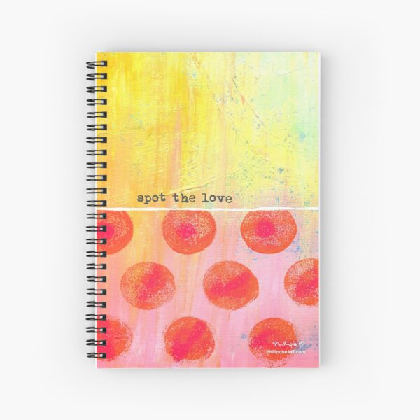 """Spot The Love"" Original design by PhillipaheART Spiral Notebook"