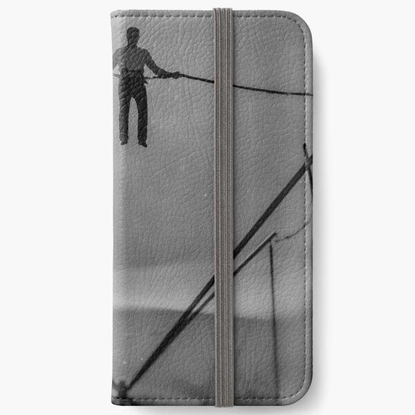The Amazing Gravity Defying Man - Brighton - England iPhone Wallet