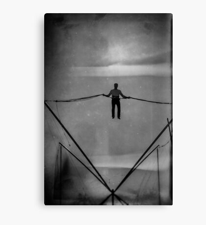 The Amazing Gravity Defying Man - Brighton - England Canvas Print