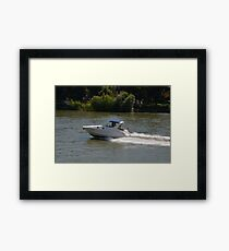 Powerful Motor Boat Framed Print