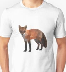 Low Poly Fox, Natural Colors Unisex T-Shirt