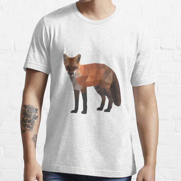 Low Poly Fox, Natural Colors Essential T-Shirt