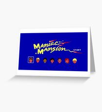 Maniac Mansion Greeting Card