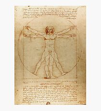 Leonardo Da Vinci's Vitruvian Man Photographic Print