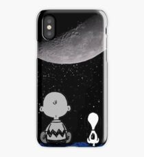 snoopy staring at the moon iPhone Case/Skin