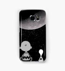 snoopy staring at the moon Samsung Galaxy Case/Skin