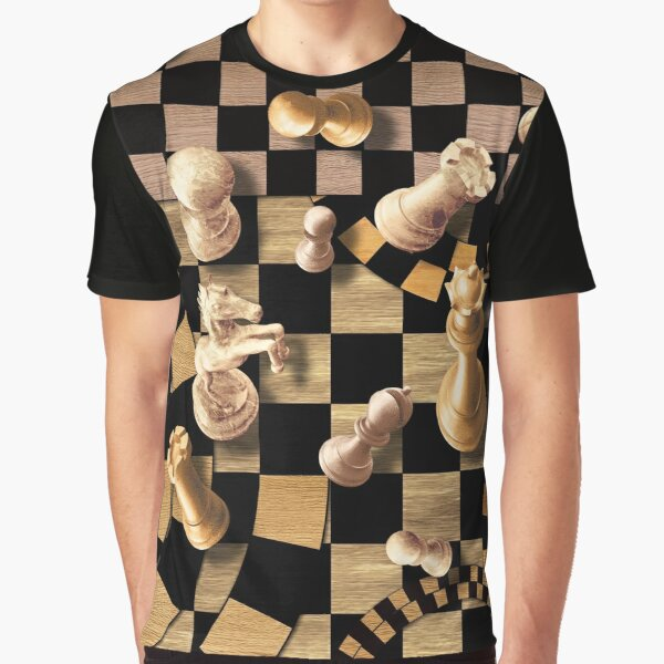 Chess Abstract Art - wooden textures Graphic T-Shirt