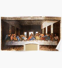 The Last Supper by Leonardo Da Vinci Poster